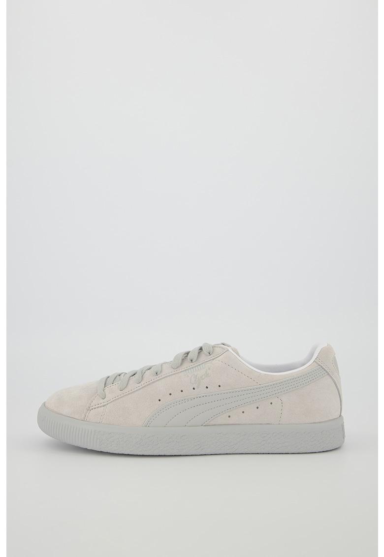 Pantofi sport de piele intoarsa cu insertii de piele Clyde