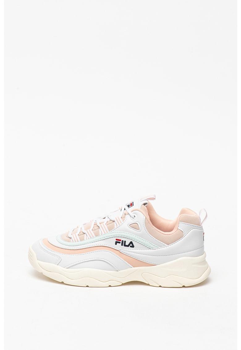 Pantofi sport din piele ecologica cu talpa joasa Ray