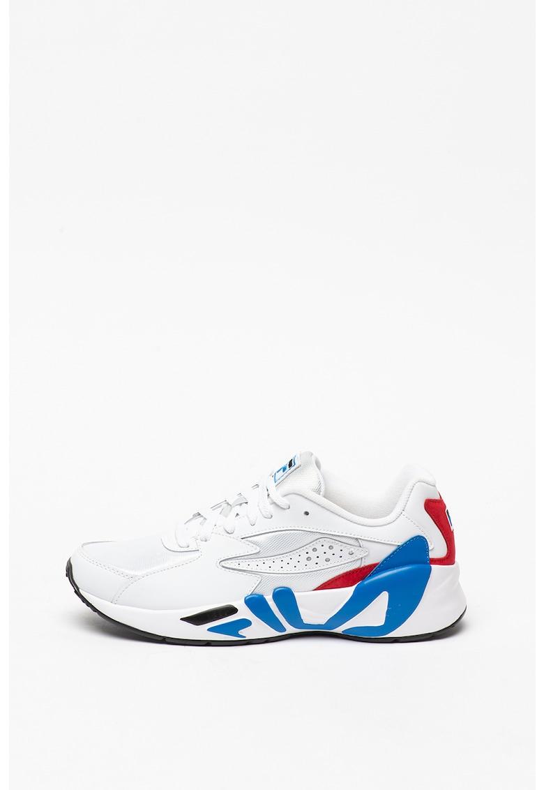 Pantofi sport din piele peliculizata cu insertii din material textil Mindblower