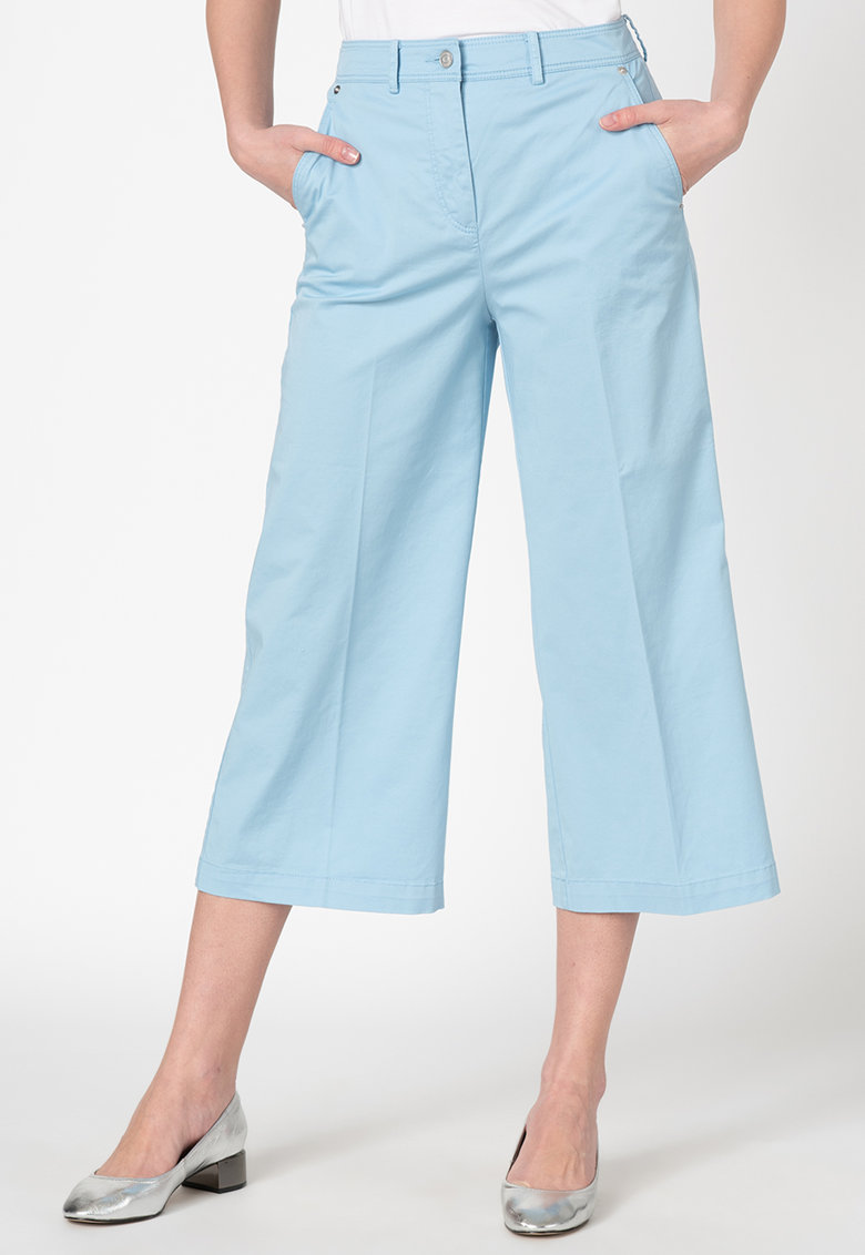Pantaloni culotte cu buzunare oblice