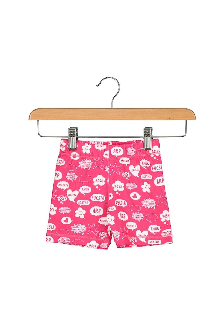 Pantaloni scurti cu imprimeu grafic Comic Bubbles imagine fashiondays.ro