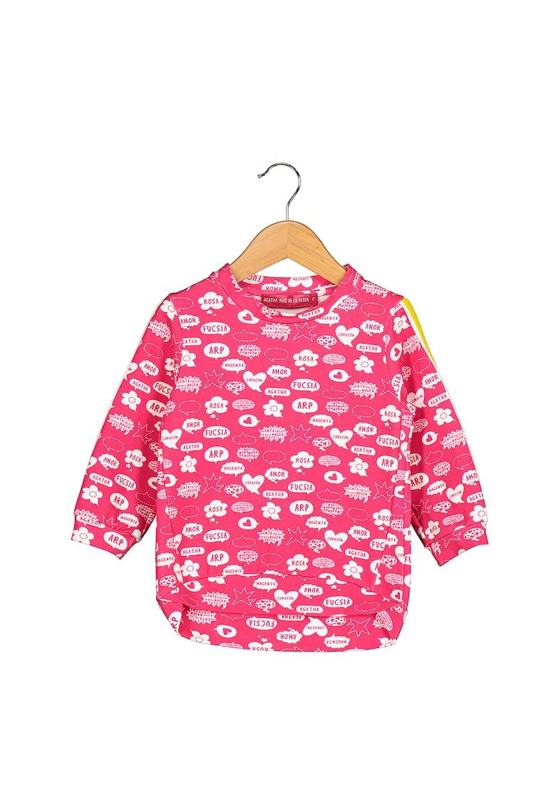 Bluza sport cu garnituri contrastante stralucitoare Comic Bubble imagine promotie