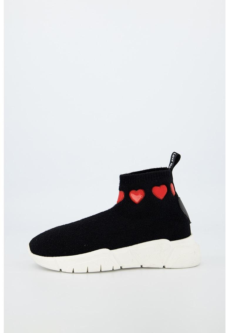 Pantofi sport slip-on cu partea superioara din material textil