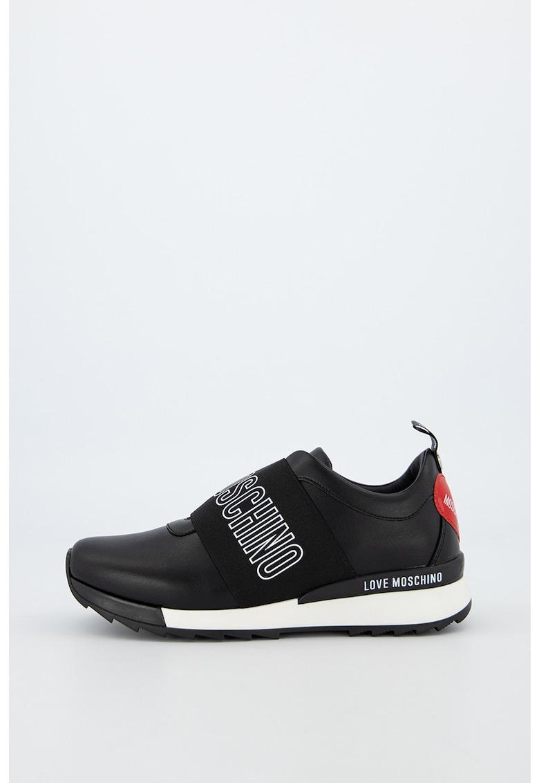 Pantofi sport din piele ecologica cu detaliu logo Franco 2