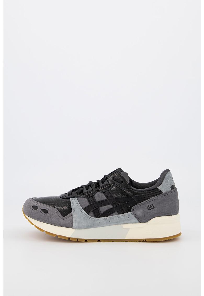 Pantofi sport de piele peliculizata cu insertii de piele intoarsa Gel-Lyte