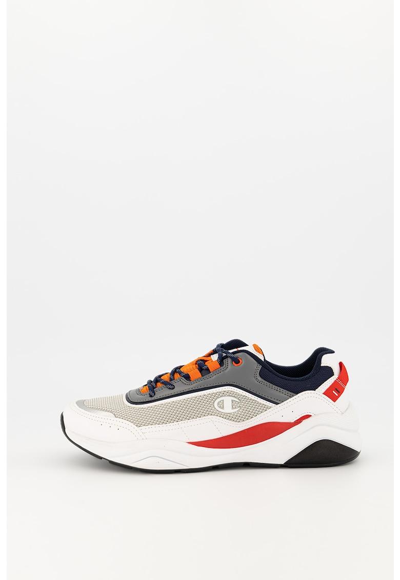 Pantofi sport din piele ecologica cu garnituri din plasa Nanga imagine promotie