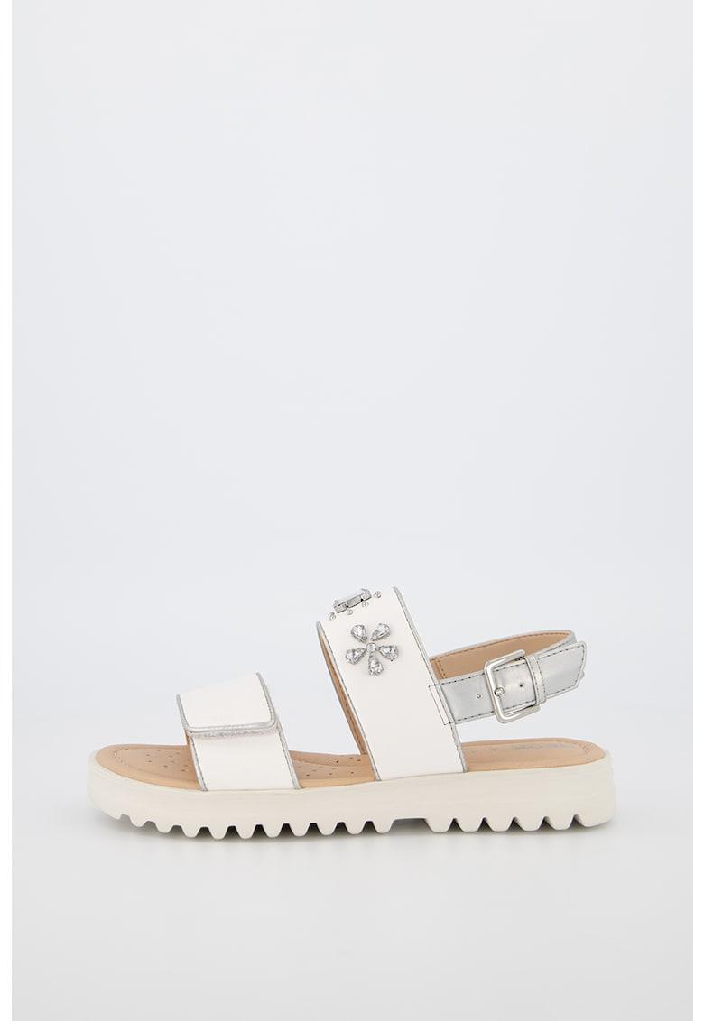 Sandale din piele ecologica cu strasuri Coralie