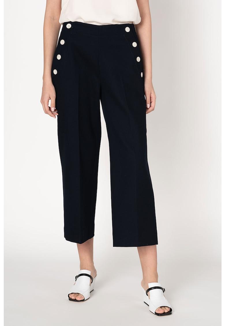 Pantaloni texturati cu croiala ampla imagine