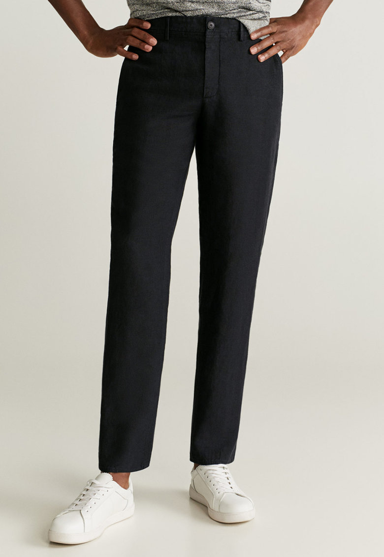 Pantaloni slim fit din in Oyster