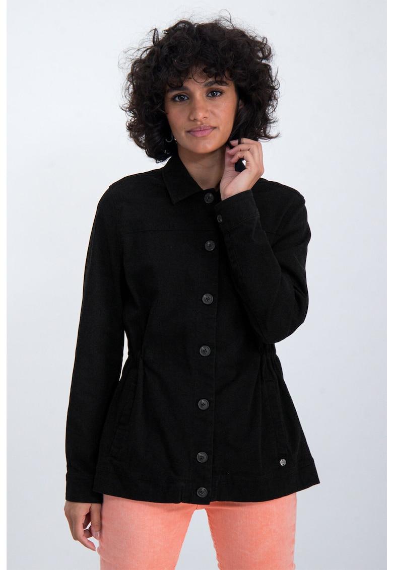 Jacheta usoara cu imprimeu metalizat pe partea din spate