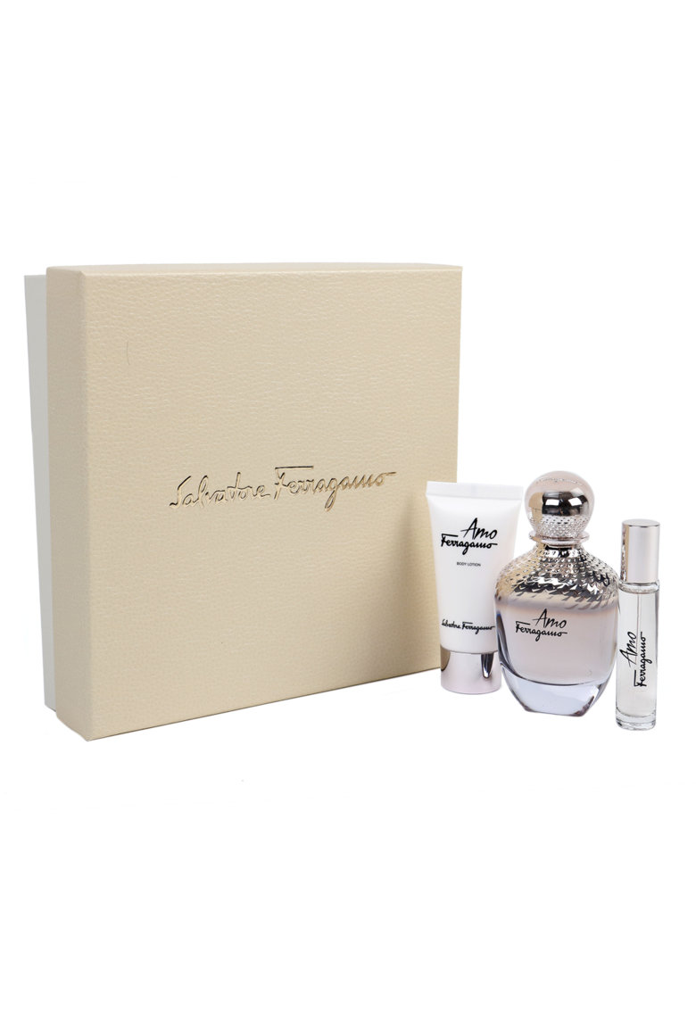 Set Amo Ferragamo - Femei: Apa de Parfum - 100 ml + Lotiune de corp - 50 ml + Apa de Parfum - 10 ml