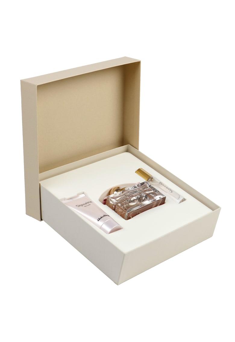 Set Signorina - Femei: Apa de Parfum - 100 ml + Lotiune de corp - 50 ml + Apa de Parfum - 10 ml imagine fashiondays.ro 2021