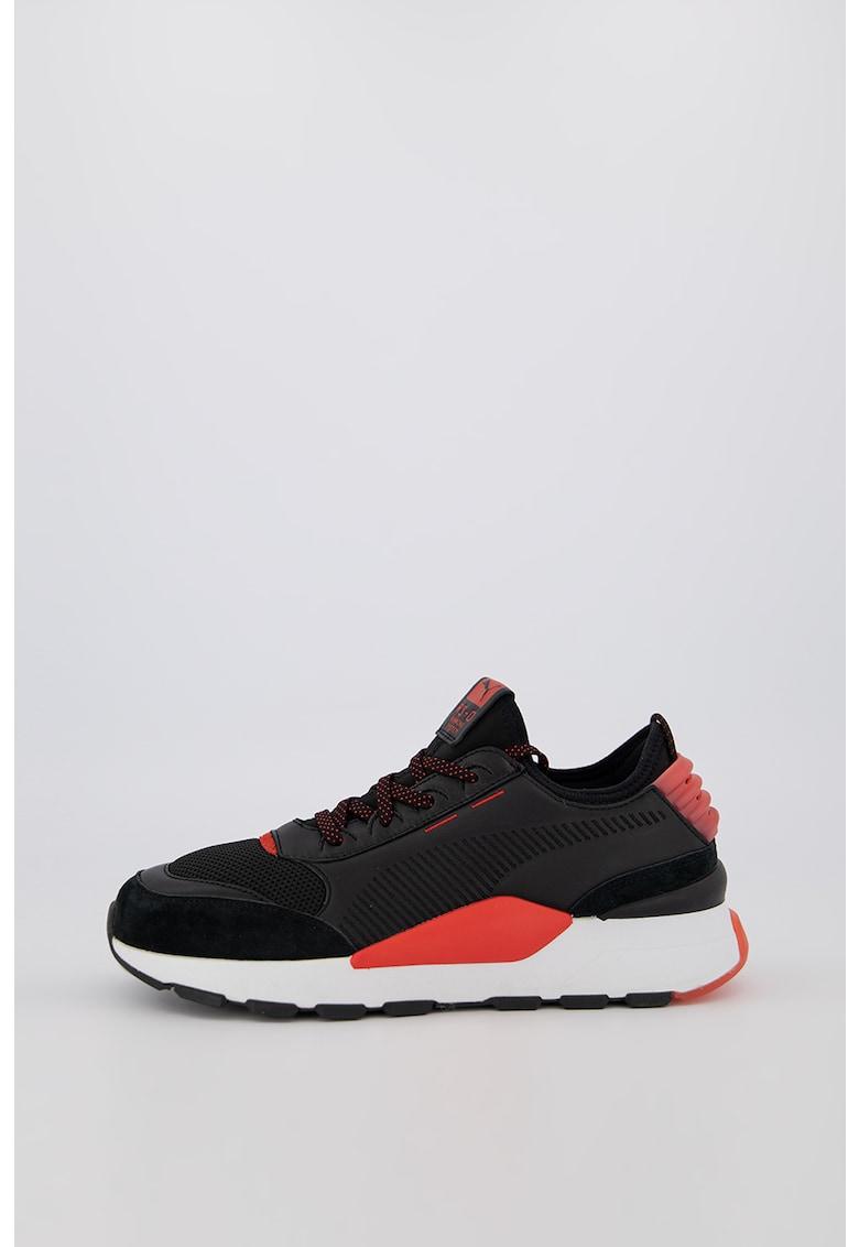 Pantofi sport din piele intoarsa si piele Plakka 2