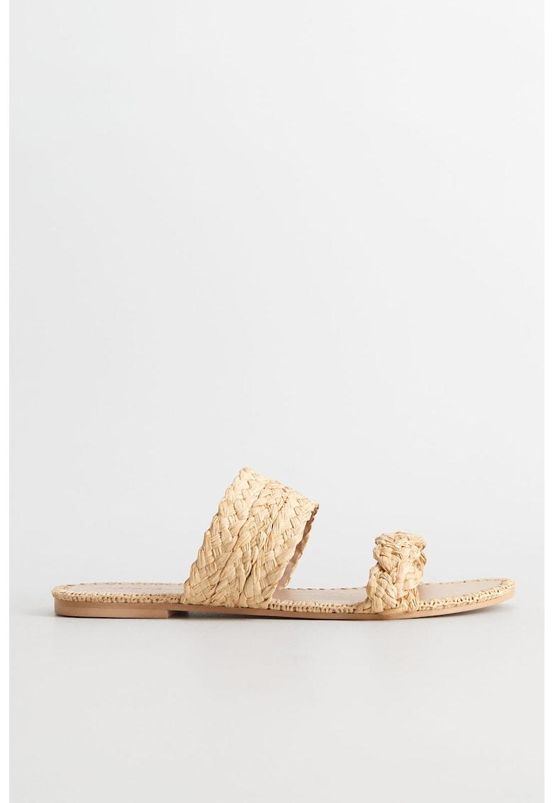 Papuci de rafie Berta imagine