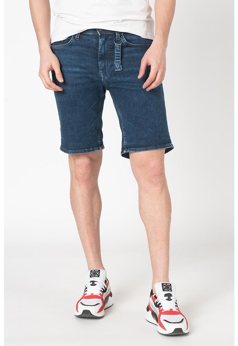 Pantaloni scurti slim fit din denim Jet imagine