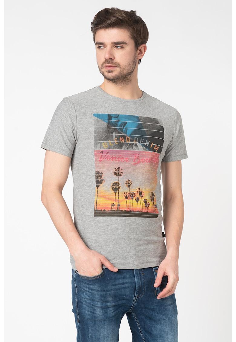 Tricou slim fit cu imprimeu grafic s imagine