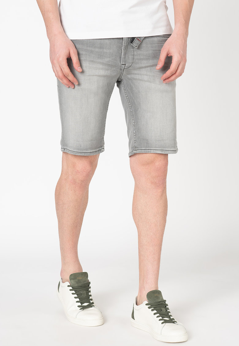 Pantaloni scurti slim fit de denim