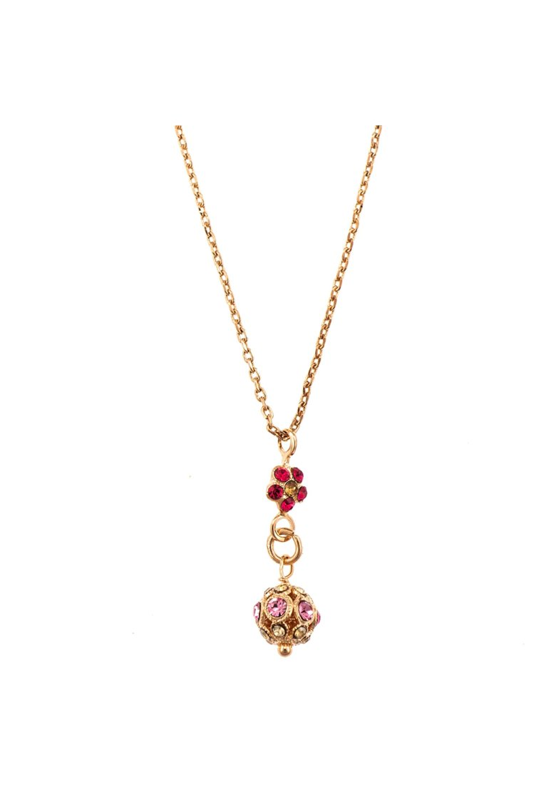 Pandantiv cu lant placat cu Aur roz de 24K - Cristale Swarovski - Twilight - Mystique by Roz/Multicolor imagine promotie