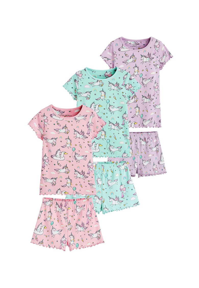 Pijamale cu imprimeu grafic - 6 piese thumbnail