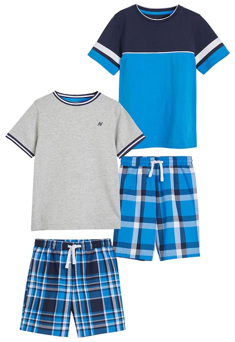 Set de pijamale cu model colorblock - 2 perechi thumbnail