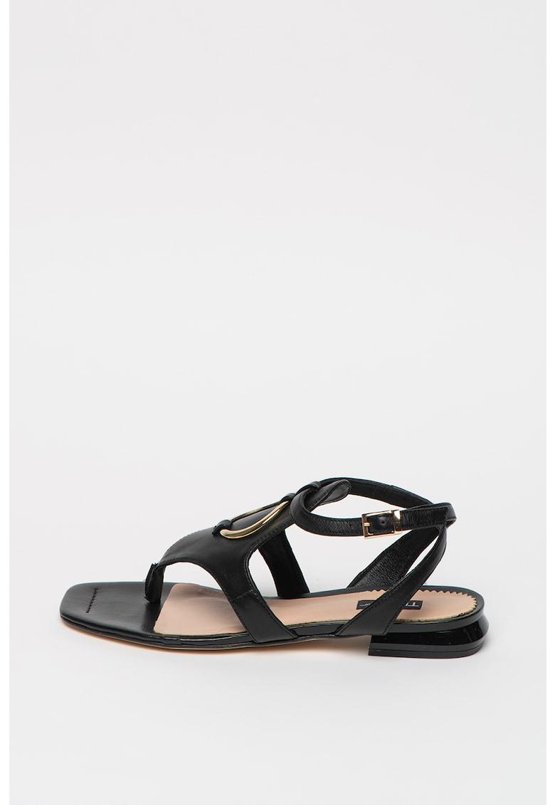 Sandale din piele cu bareta separatoare Creta