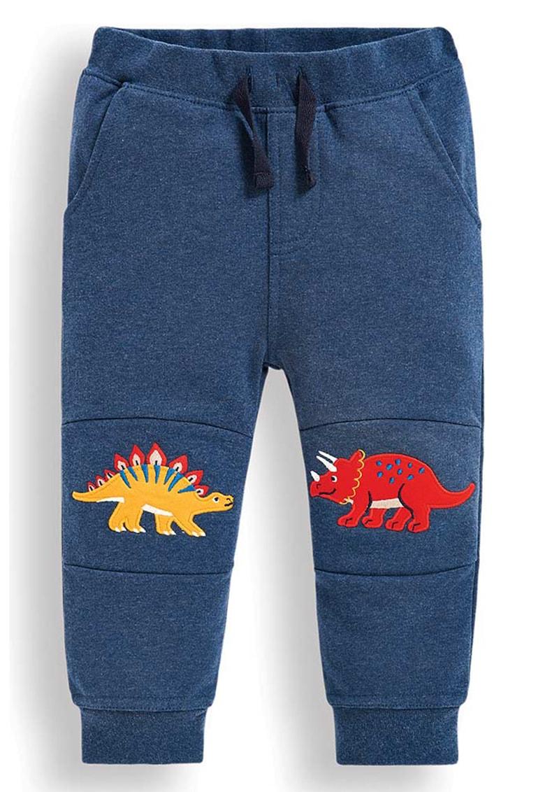 JoJo Maman Bebe Pantaloni sport cu aplicatie cu model dinozaur