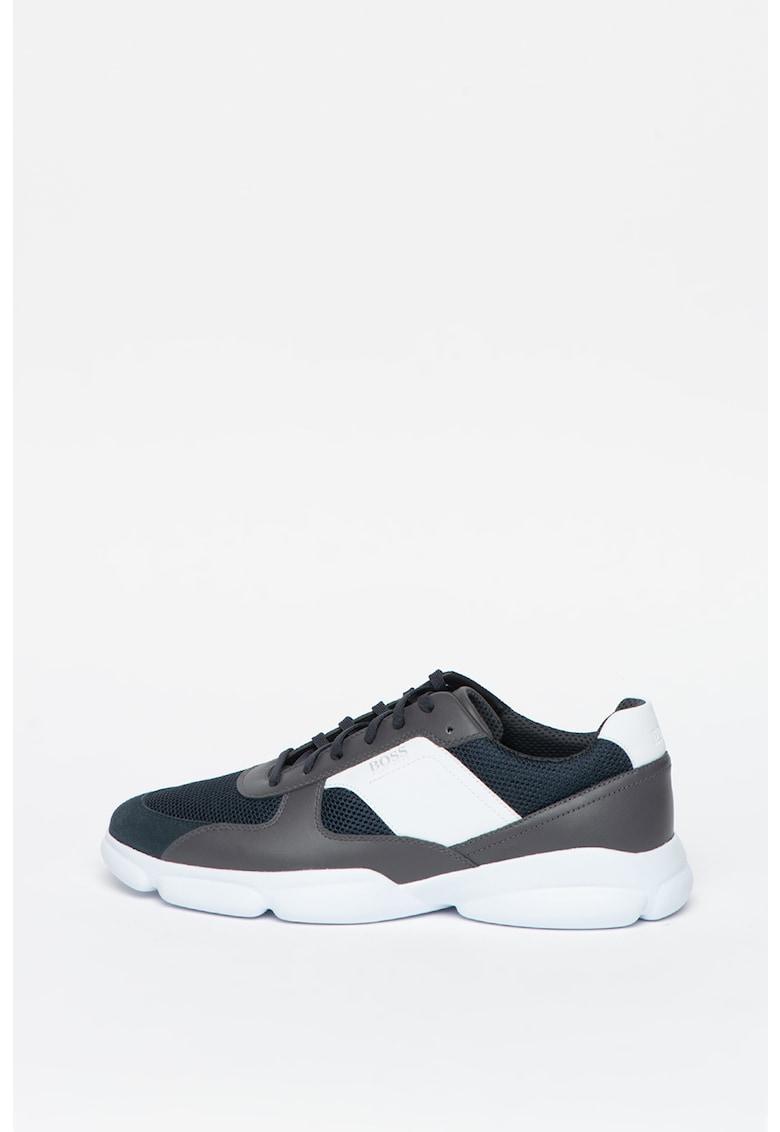 Pantofi sport cu model colorblock si garnitura de piele intoarsa Rapid