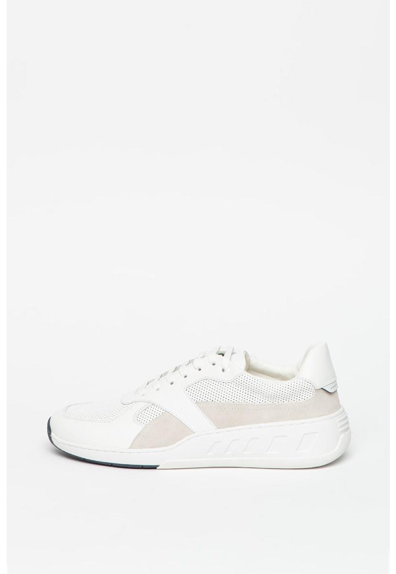 Pantofi sport de piele cu garnituri de piele intoarsa Chrono