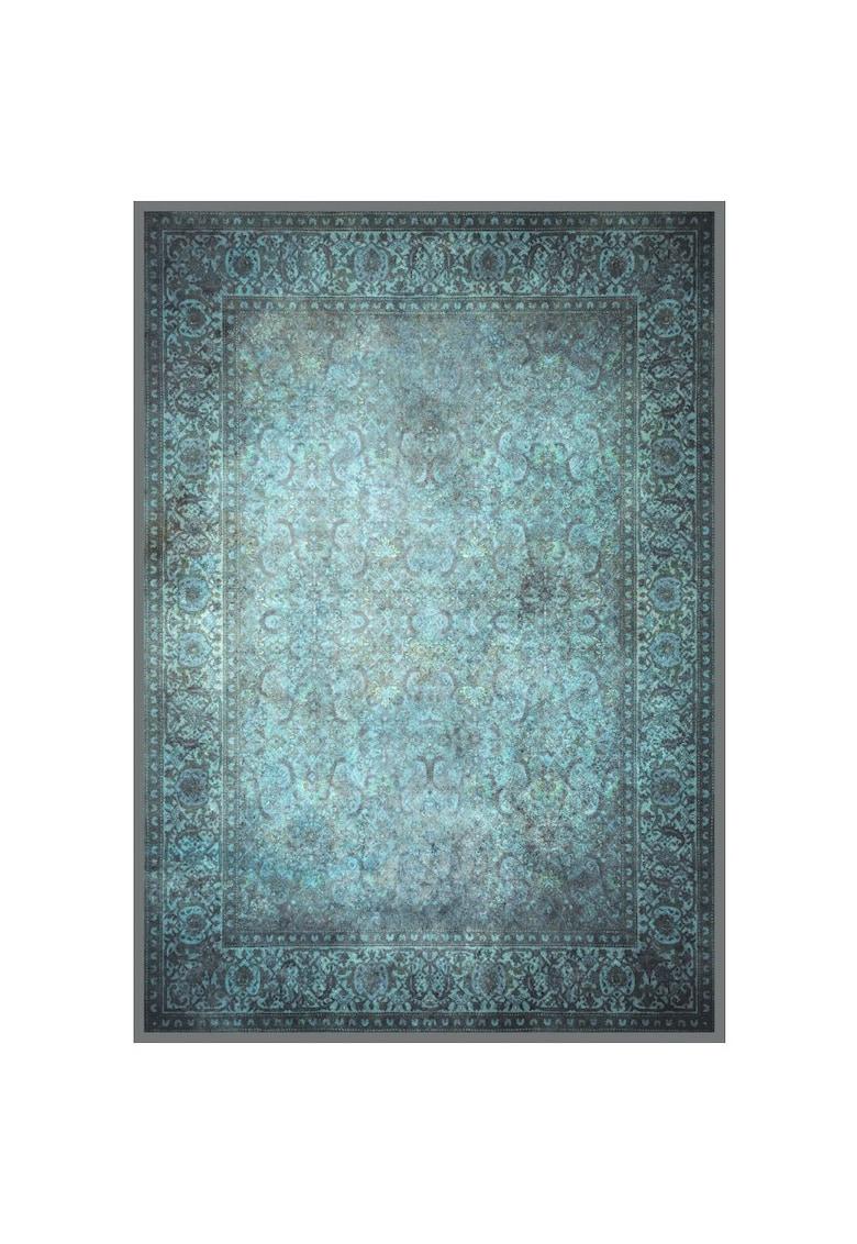 Covor cu print digital Jaipur - 100% bumbac - Albastru imagine fashiondays.ro 2021