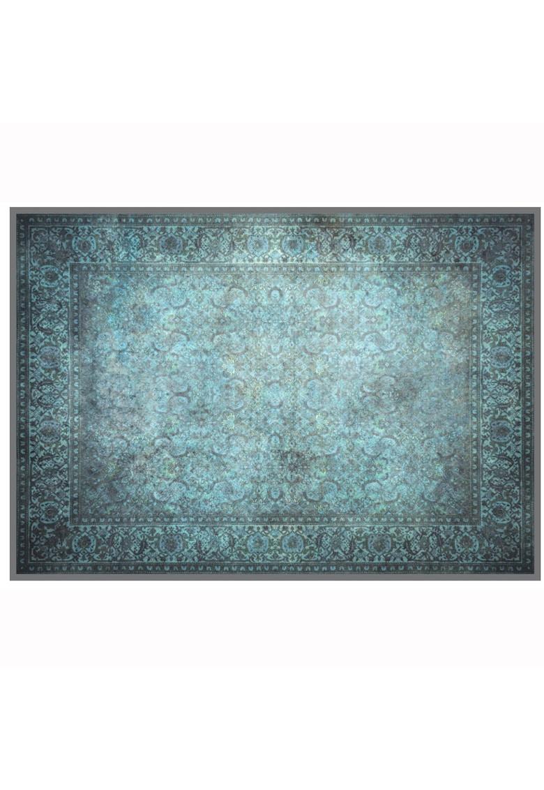 Covor cu print digital Jaipur - 100% bumbac - Albastru imagine