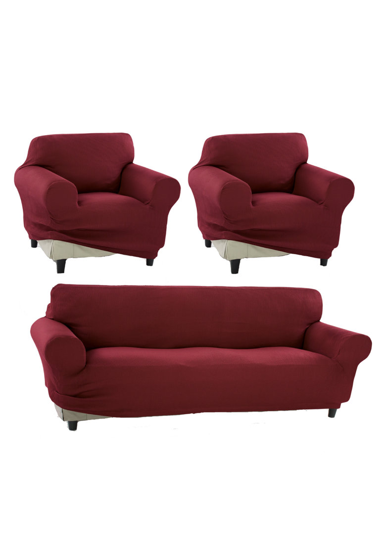 Set huse elastice pentru canapea 3 locuri si 2 fotolii Nairobi - 60% bumbac+ 35% poliester + 5% elastan