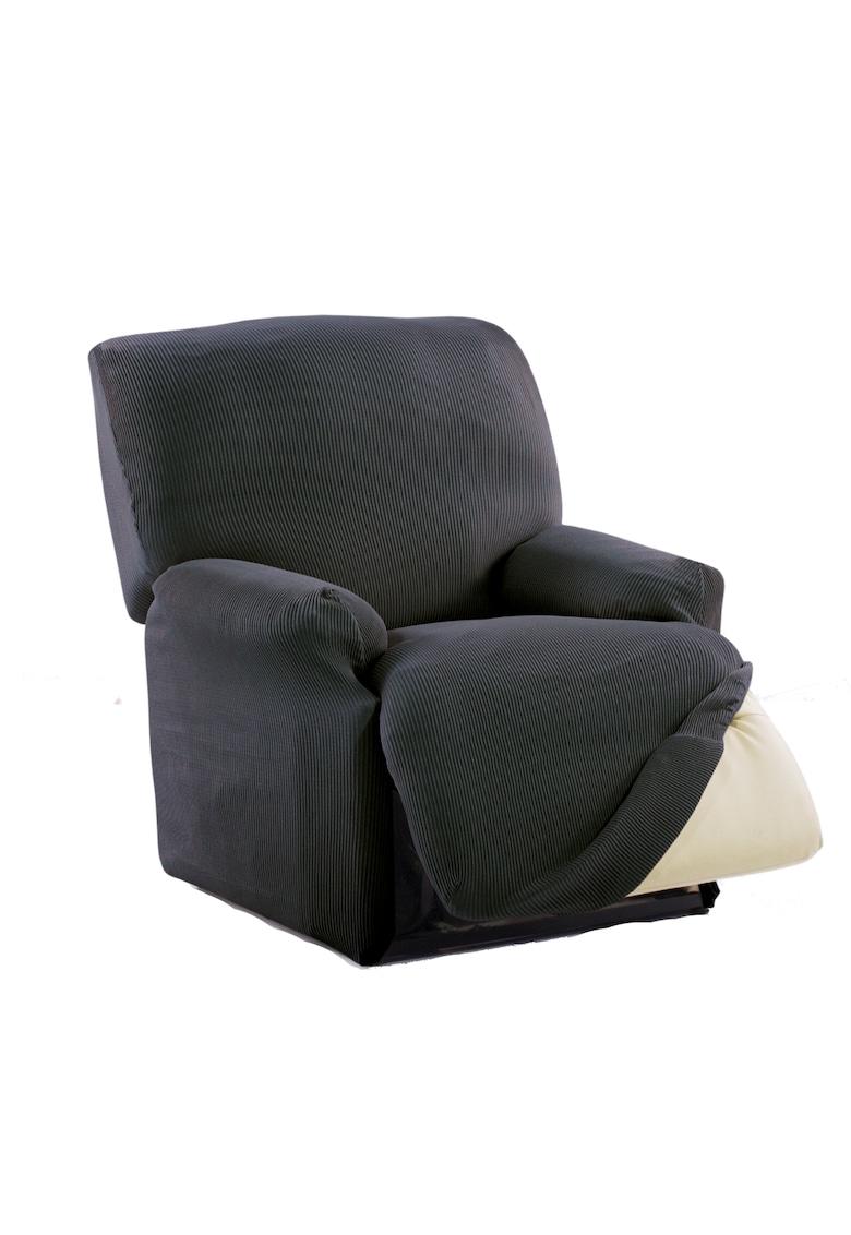 Husa elastica pentru fotoliu cu recliner mecanic Nairobi - intre 70-110 cm - 60% bumbac+ 35% poliester + 5% elastan imagine