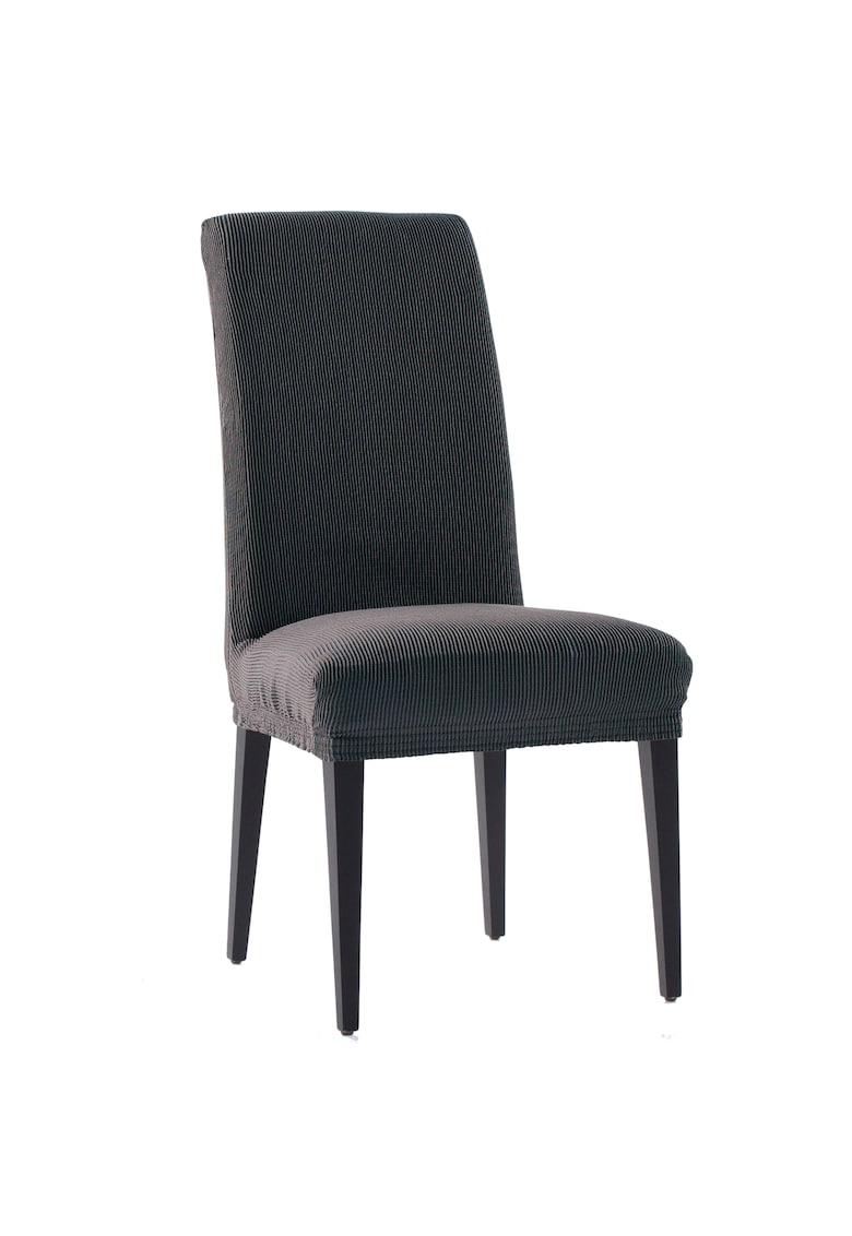 Set 2 huse elastice pentru scaune Nairobi - cu spatar de pana la 50 cm - 60% bumbac+ 35% poliester + 5% elastan imagine fashiondays.ro