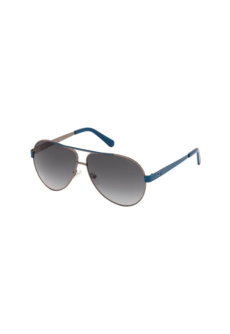 Ochelari de soare aviator cu lentile in degrade imagine fashiondays.ro Guess