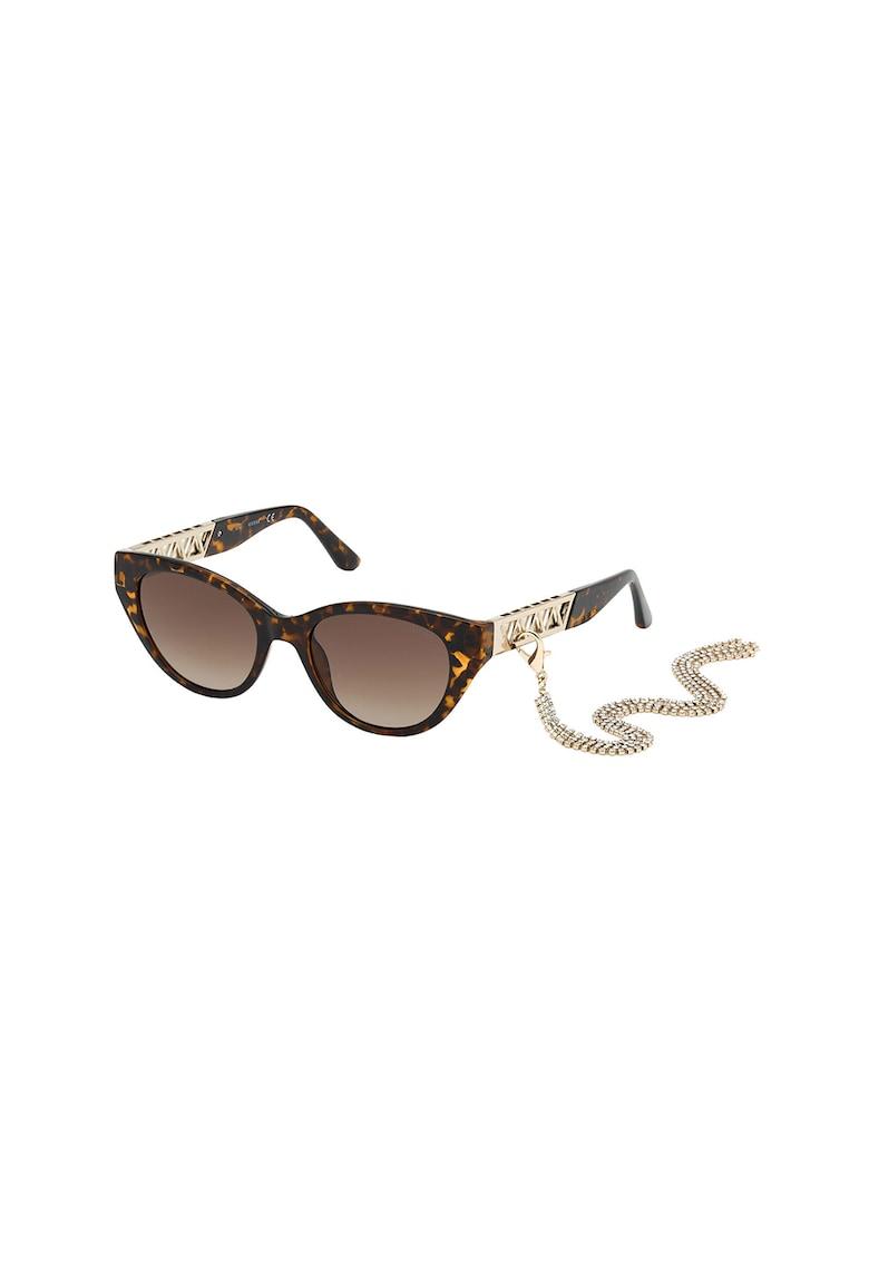 Ochelari de soare cat-eye cu lant detasabil imagine fashiondays.ro Guess