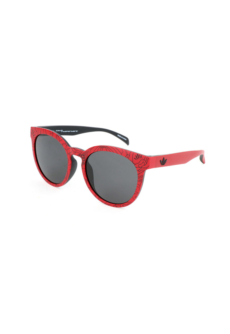 Ochelari de soare rotunzi cu rama cu imprimeu poza fashiondays
