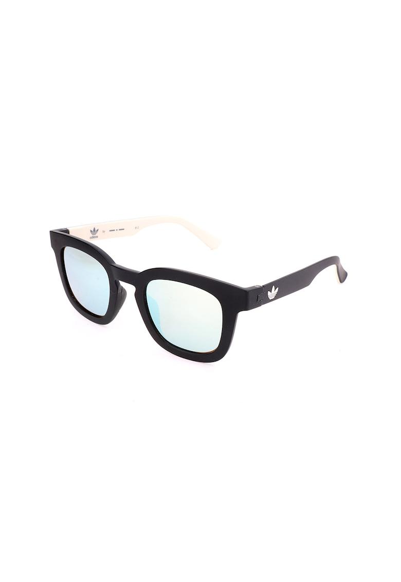 Ochelari de soare patrati unisex - cu lentile oglinda imagine fashiondays.ro