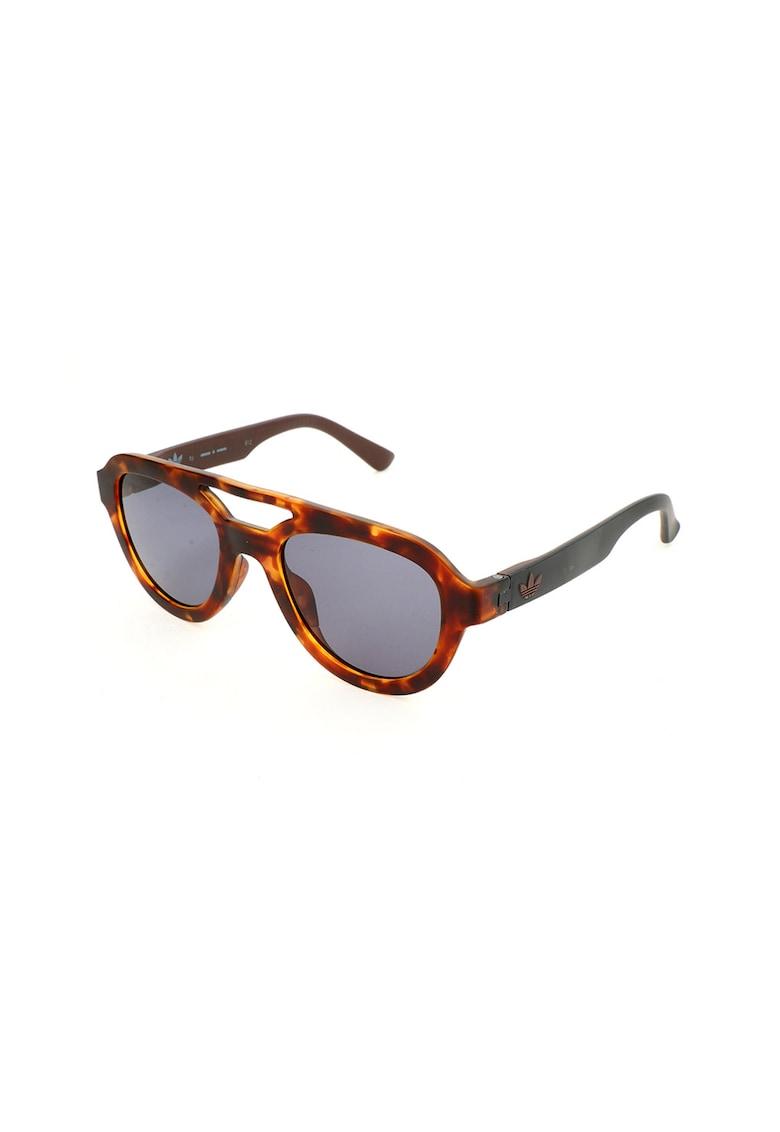 Ochelari de soare aviator unisex cu rama tortoise imagine
