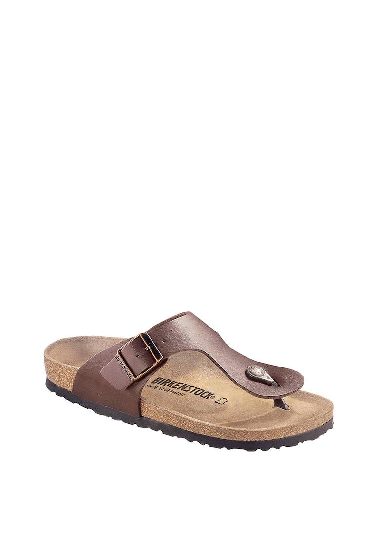 Papuci flip-flop de piele ecologica Ramses