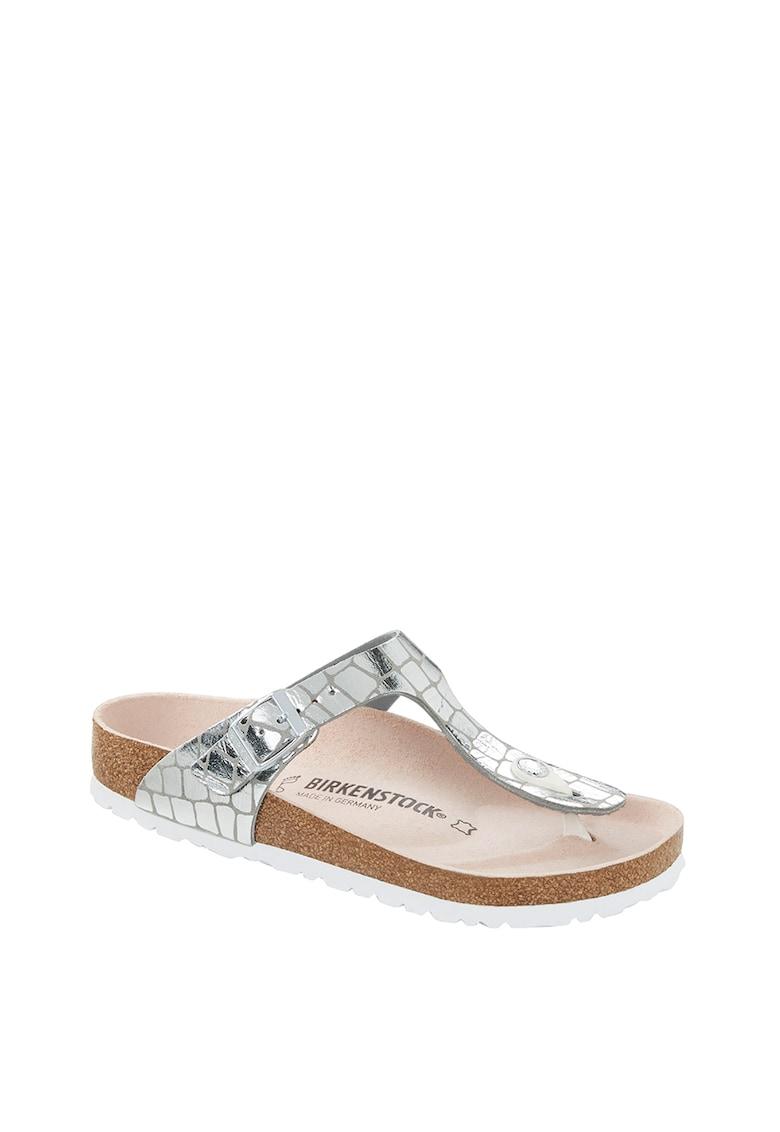 Papuci flip-flop de piele ecologica Gizeh