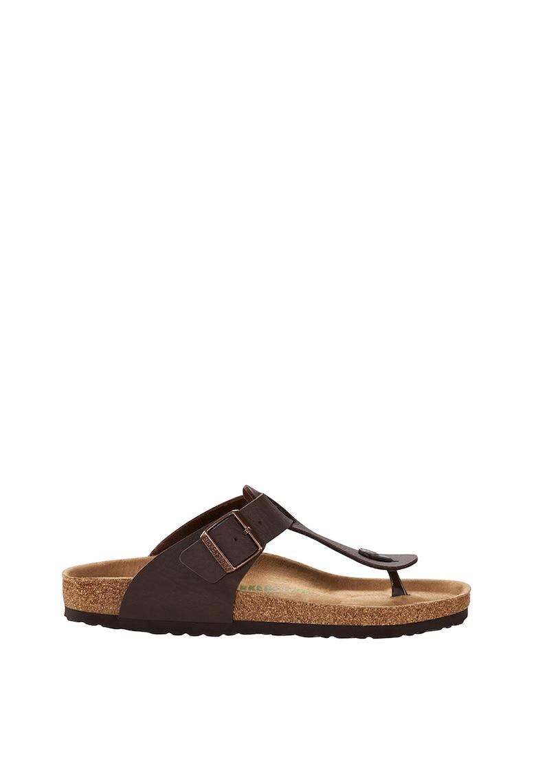 Papuci de piele ecologica cu bareta separatoare Medina imagine