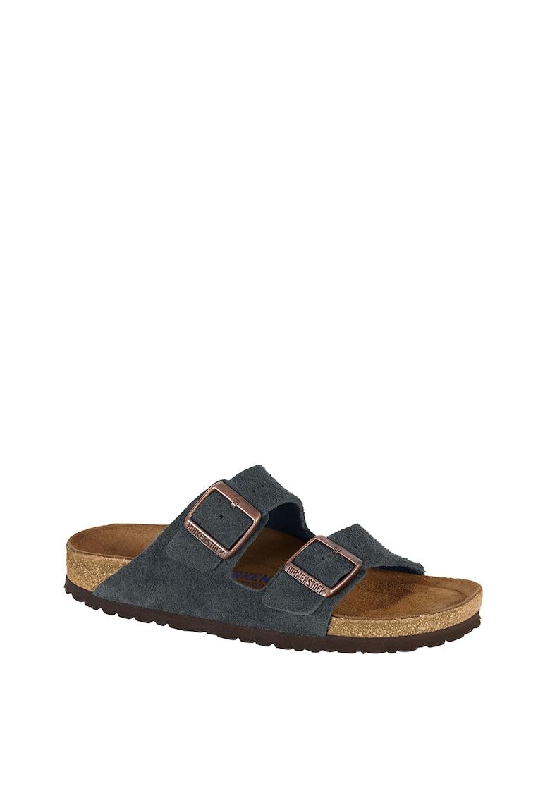 Papuci de piele intoarsa cu catarame Arizona