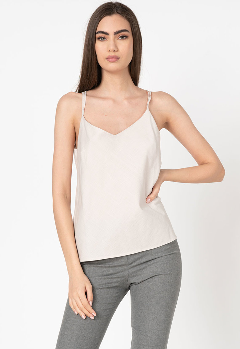 Top regular fit cu bretele inguste