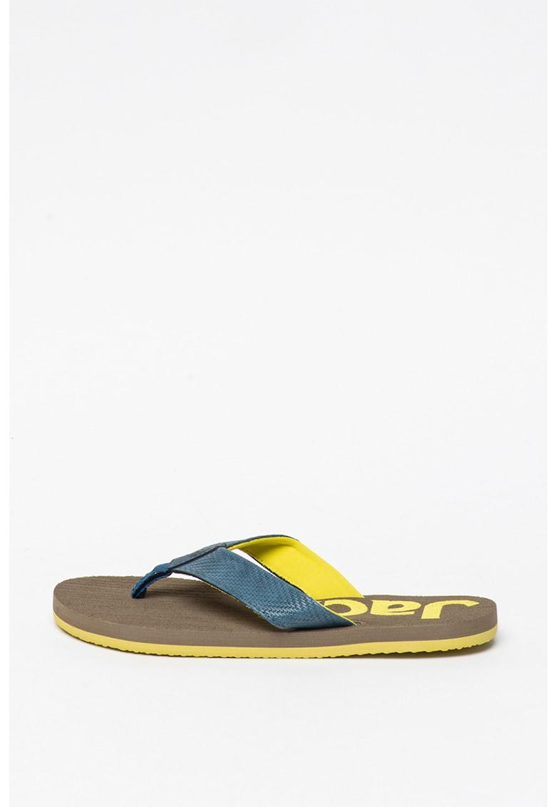 Papuci flip-flop cu imprimeu logo Eezy