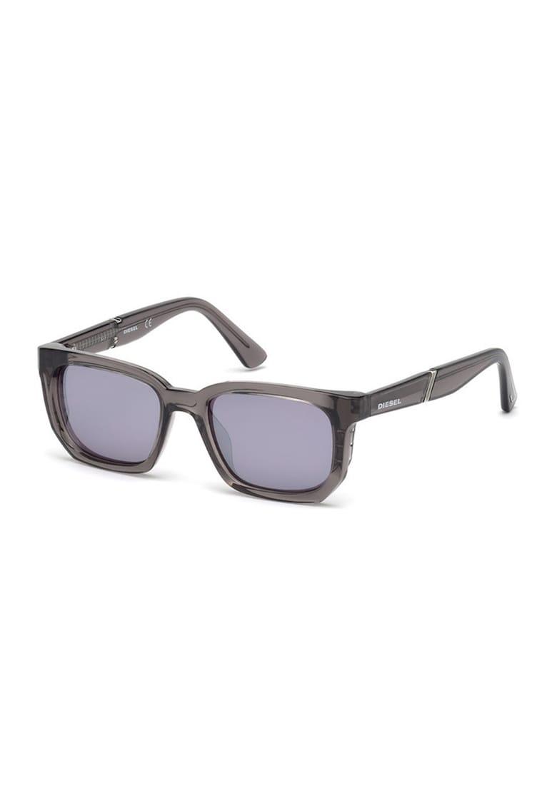 Ochelari de soare unisex patrati cu detaliu logo imagine fashiondays.ro Diesel