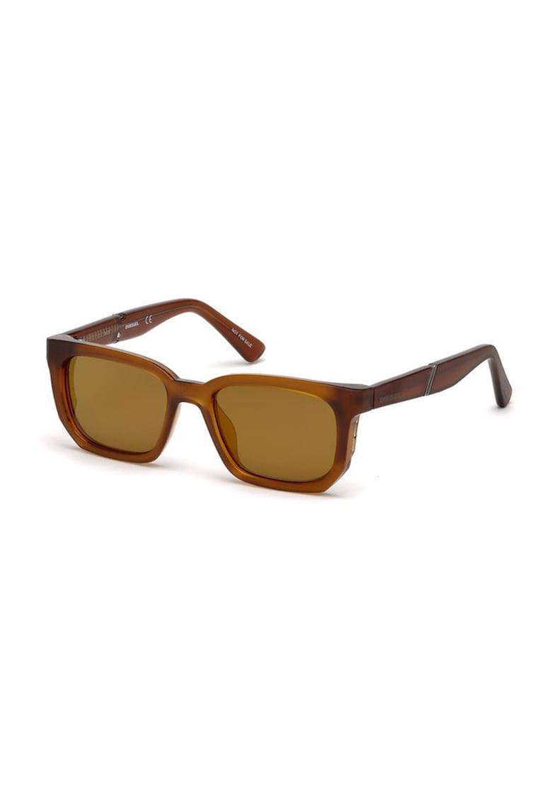 Ochelari de soare unisex patrati cu detaliu logo imagine