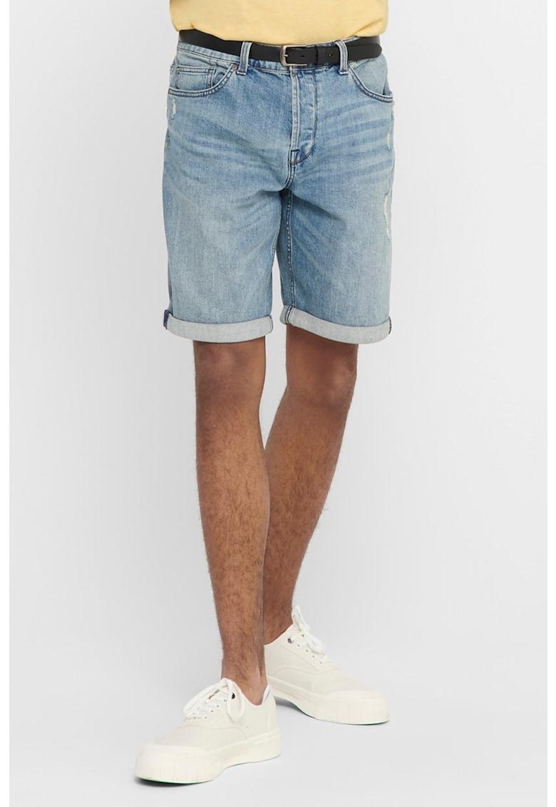 Pantaloni scurti din denim si bumbac organic