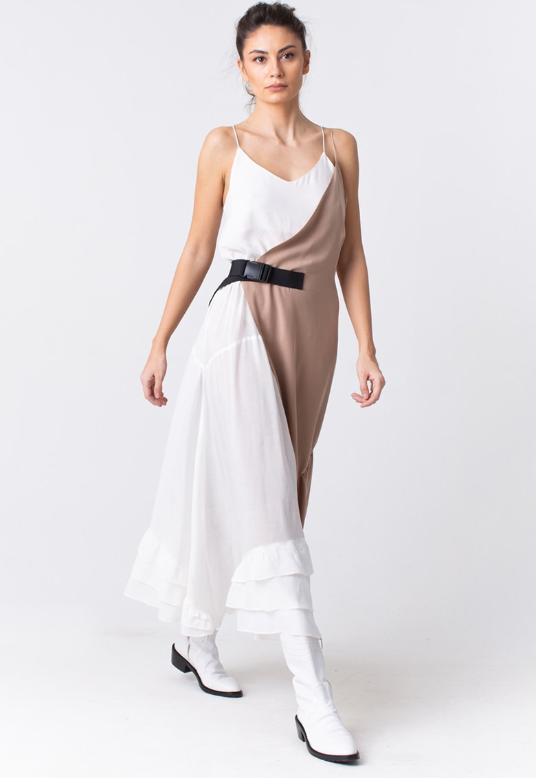 Jumatate rochie asimetrica imagine fashiondays.ro LIN APPAREL