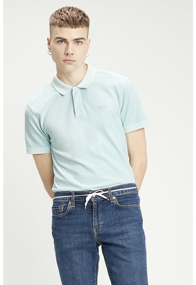 Tricou polo cu aspect de pique imagine fashiondays.ro