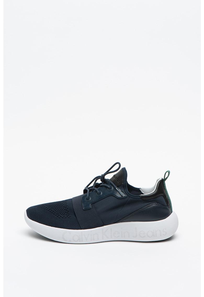 Pantofi sport cu insertii de piele intoarsa California 2